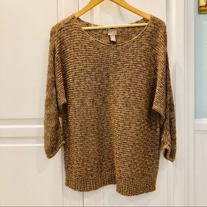 Chico's Gold Shimmer Sweater Size 2